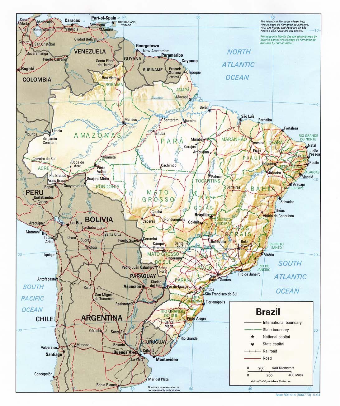 Landkarten brasilien brasilienkarte
