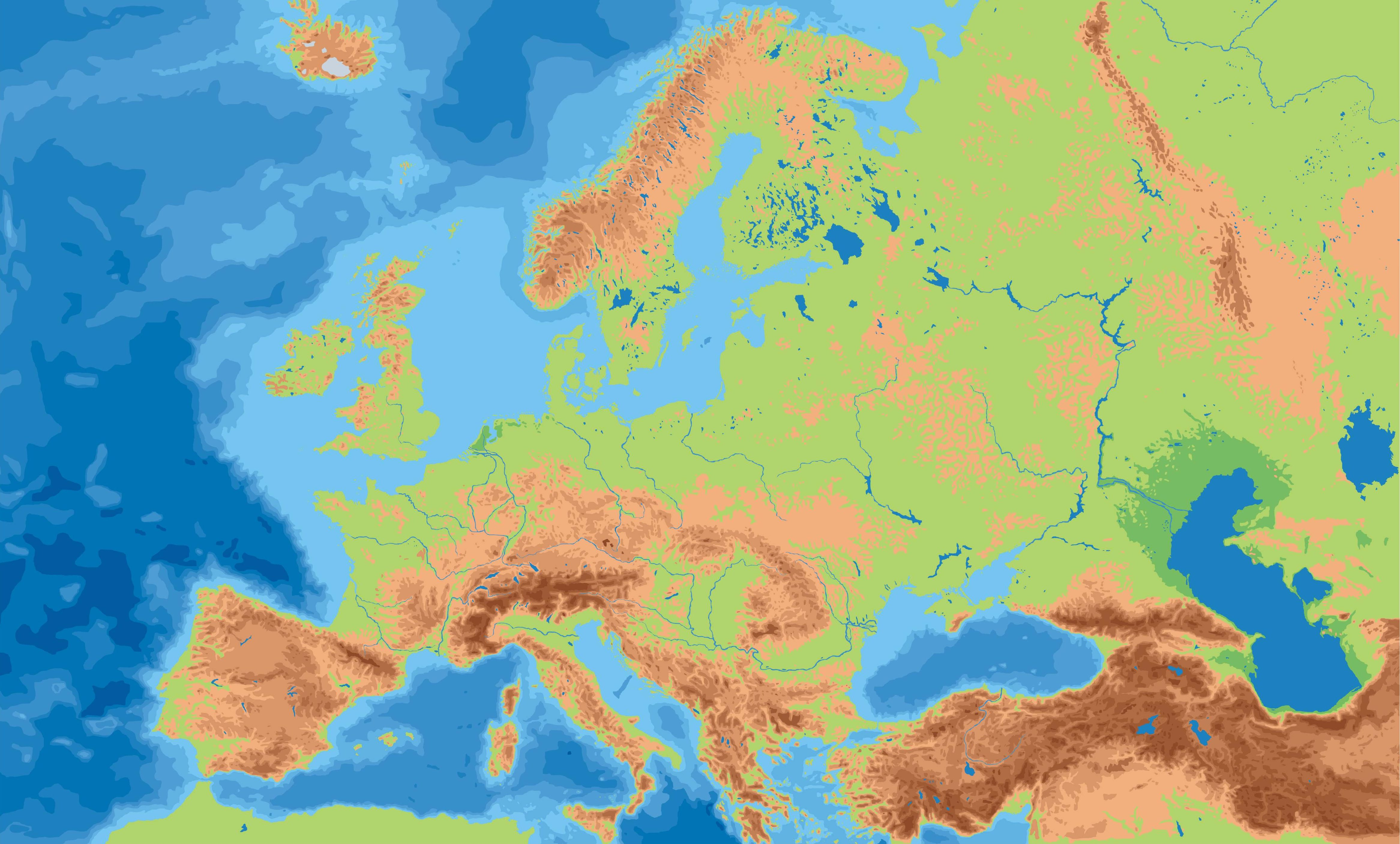 Landkarte Europa - Landkarten download -> Europakarte / Europa ...
